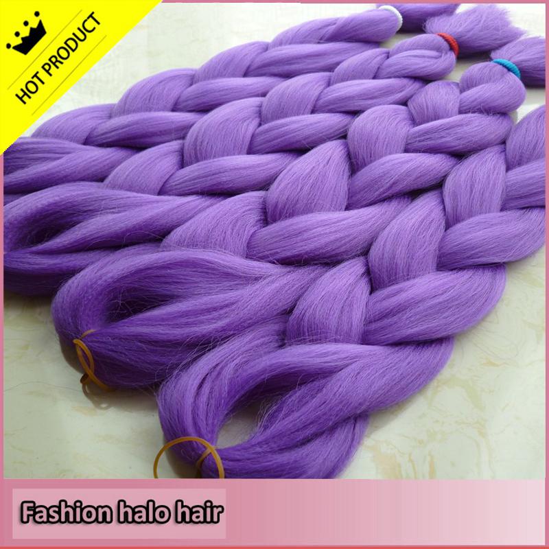 Гаджет  Top quality 4pc hightlight purple braids hair 24inches 100g/lot kanekalon synthetic jumbo hair braiding None Волосы и аксессуары