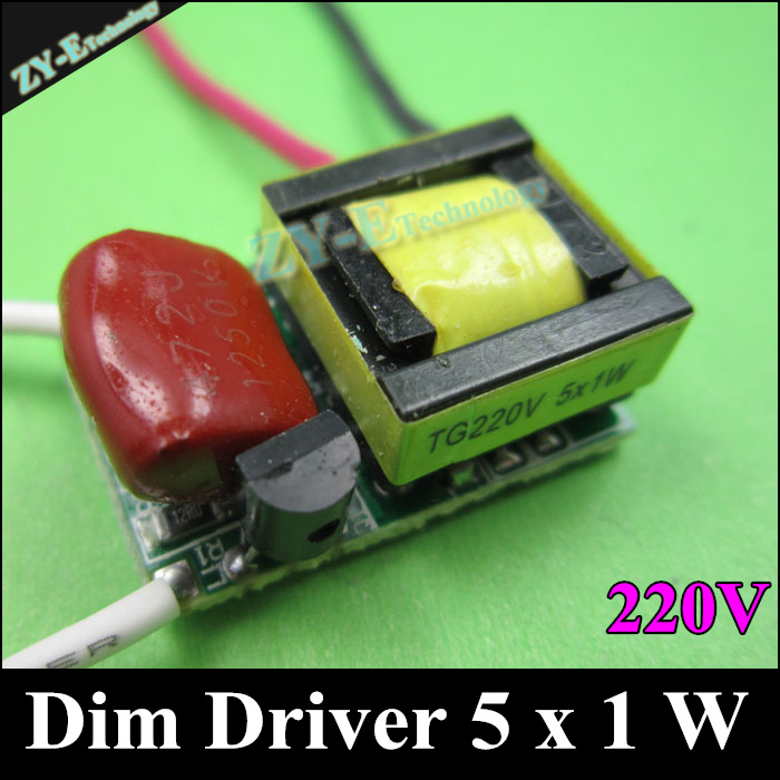 20 pcs/lot,5X1W Dimming driver,5X1w 5w LED dimmer driver 300W AC 220V ,LED Dim Driver For Dimmable LED bulb light freeshipping<br><br>Aliexpress