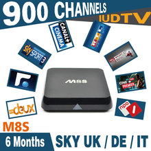 M8S Android Iptv Set Top Box With 6 months Iudtv Iptv Apk Free Includes 900 Channels Sky sports