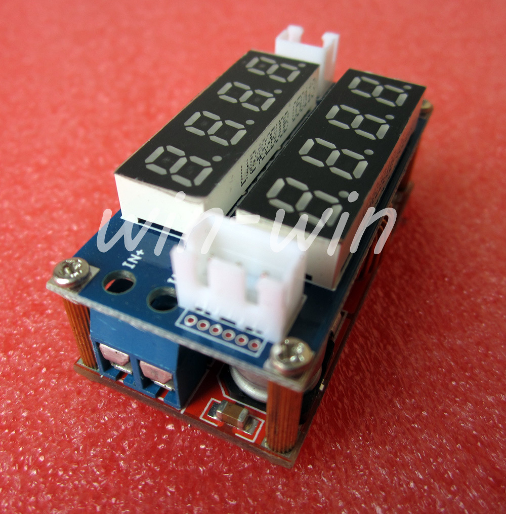 1pcs 5A Adjustable CC/CV Display Step Down charge Module LED Panel Voltmeter(China (Mainland))