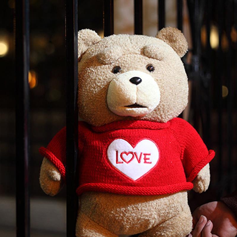 2015 The Film Teddy Bear Ted 2 Plush Toys In Apron England Love Sweater 48CM Soft Stuffed Animals Ted Bear Plush Dolls(China (Mainland))
