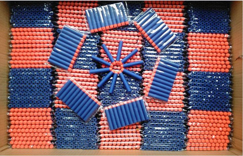 100pcs Kids Refill Toy Gun Bullet Darts Round Head Blasters For nerf N-Strike(China (Mainland))