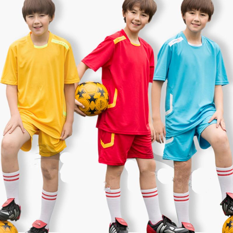 2016 Summer Kids Soccer Jerseys Sets Quick Dry Football Jerseys Training Suit Kids Kits Running Set Blank Jogging Team Uniforms(China (Mainland))