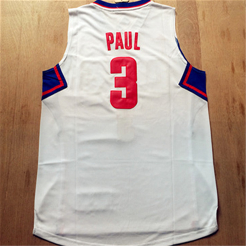 New White Blue Red Black #3 Chris Paul Jersey,New Material Rev 30 Basketball jersey,Best quality Embroidery Logos Size S-XXL Che(China (Mainland))