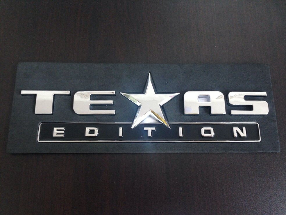 ABS TEXAS EDITION for SILVERADO SIERRA TAHOE SUBURBAN Emblem Badge Sticker-in Emblems from
