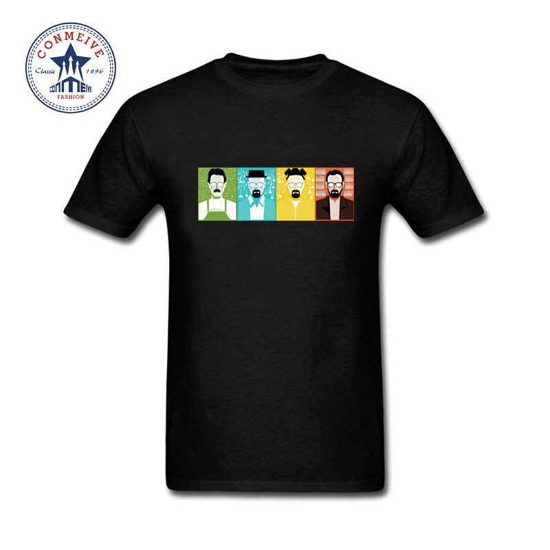2017 Breaking Bad vs Big Bang Theory vs Game of Thrones Best Gift For Friend Funny Cotton T Shirt for men(China (Mainland))