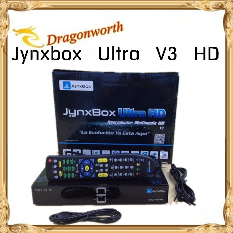 Free Shipping Jynxbox Ultra HD V3 with Free JB200 Module +8PSK+TURBO + Wifi Dongle for North America Support ATSC Tuner Jynxbox(China (Mainland))