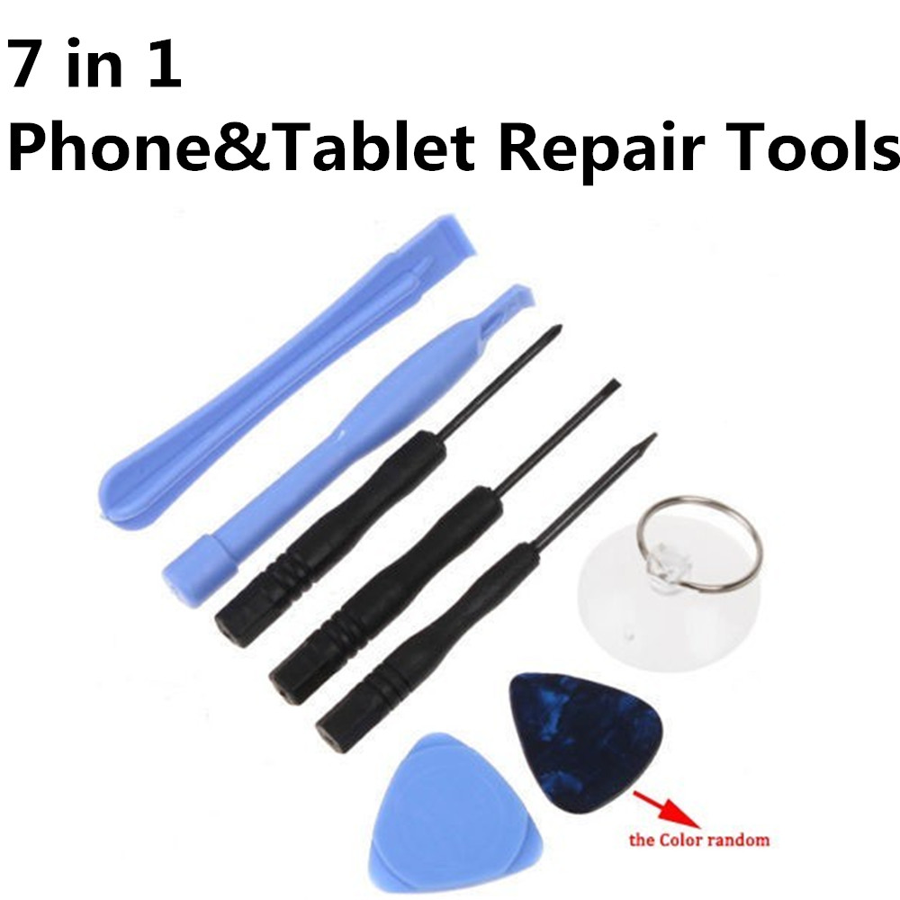 7 in 1 Repair Tools Kit ( Screwdriver Sucker Opening Pry Tool Set ) For iPhone For Samsung For iPod Touch Tablet Repair Part(China (Mainland))