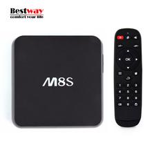 Mini M8S Android TV Box IPTV Amlogic S812 2G RAM 8G Android 4.4 4K KODI Quad Core 2.4G/5G WiFi Digital Top Box Recepteur TNT HD