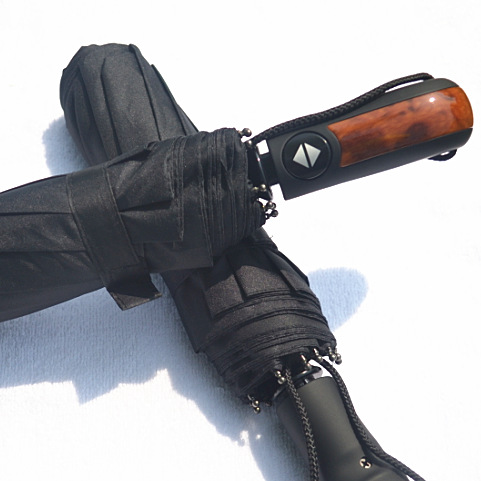 Y13 2013 Brand Daiwenwo Umbrellas Rain Wooden Handle 10 Rib Quantity Black For Men High Quality