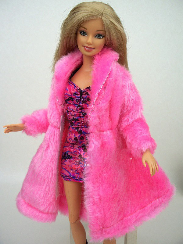 2015 New Design Plush Coat Winter Wear Dress Snowsuit Clothing Outfit Fashion Clothes 1/6 Kurhn Barbie Doll Baby Toy Xmas - Eleven-Girls store
