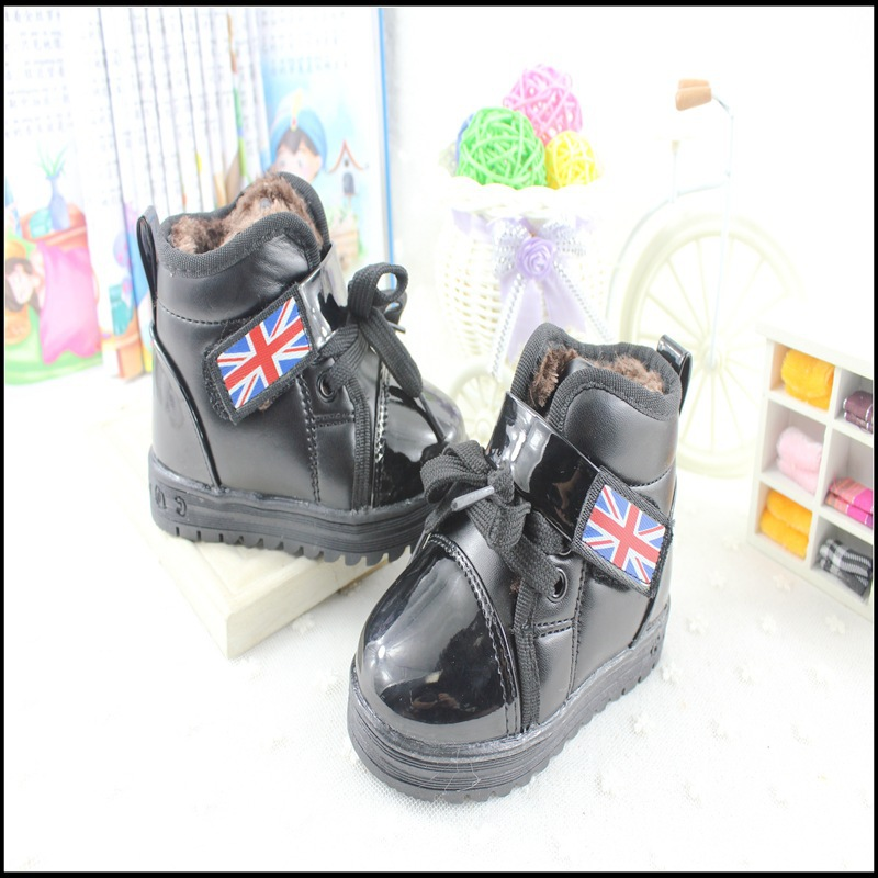 2015 fashion candy color winter children boots Footwear for Boys boots shoes kids leather sneakers For Girls child snow boots