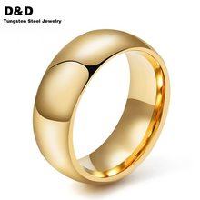 8.0 мм Tungsten Carbide Кольца Для Мужчин Обручальное кольцо Высокое Качество Золото и Розовое Золото и Серебро Покрытием Ювелирные Изделия TCR-001G(China (Mainland))