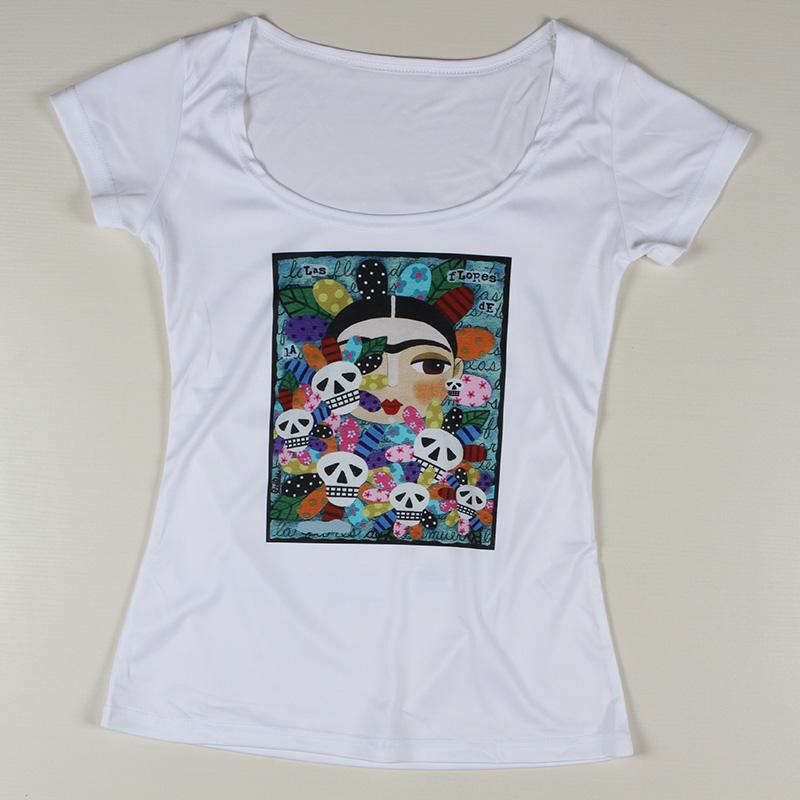 Personalized frida kahlo women t shirts cartoon short for T shirt printing stonecrest mall