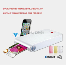 Inkless Pocket Photo Printer Mobile Cell Phone Photo Printer Andriod IOS Bluetooth NFC Zink Printing + 30PCS ZINK PAPER(China (Mainland))