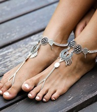 Buy Vintage Anklets for Women Fashion Beach Foot Jewelry Silver Plated Coin Pendant Summer Women Anklets 3544 for $1.30 in AliExpress store