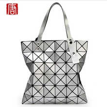 Geometry Package Fold Over Bags Women Handbags Shopper Bag Totes sac Bolso lady Handbags Sequins Mirror
