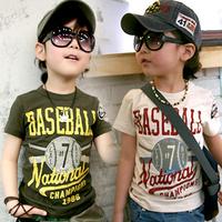Free Shipping BOYS Sports Tees,Summer Short Sleeved Baseball Tshirts  K3844
