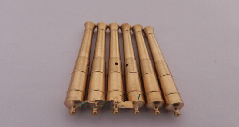8 pcs/lot CNC brass kits classic COPPER CANNON+CABLE BOLT for Scale 1/80 The Dutch royal yacht wooden assembly model ship(China (Mainland))