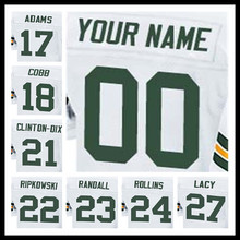 100% Stitched With Customized #17 Davante #18 Randall #21 Ha Ha #22 Aaron #23 Damarious #24 Quinten #27 Elite White Jersey(China (Mainland))