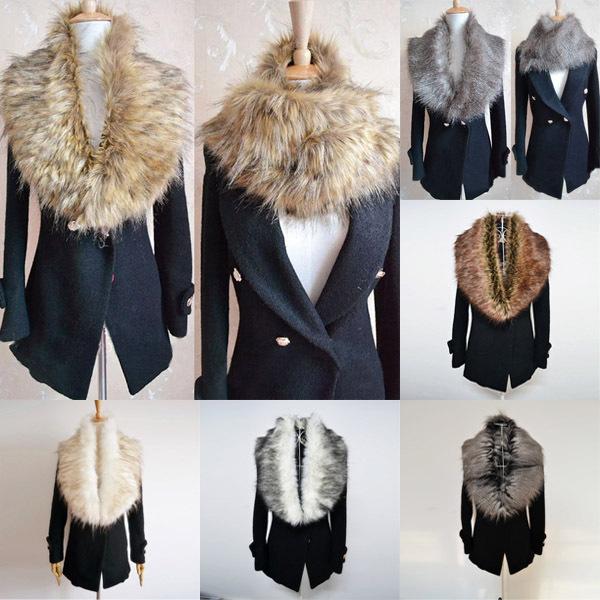 Womens Faux Fur Collars Shrugs Scraf Wrap Snood Cape Neck Warmer Shawl Stole(China (Mainland))