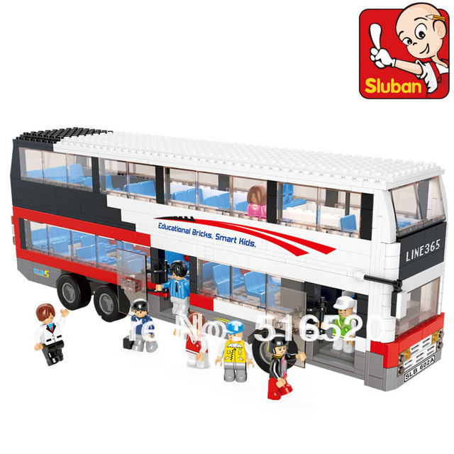 Sluban Luxury City Bus B0335 Building Block Sets 741pcs Educational DIY Jigsaw Construction Bricks toys for children