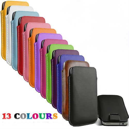 13 Colors Pull Up Tab Strap Leather PU Pouch Case Bag for VKWorld VK6050/VK6050s Phone Cases Cell Phone Accessories(China (Mainland))