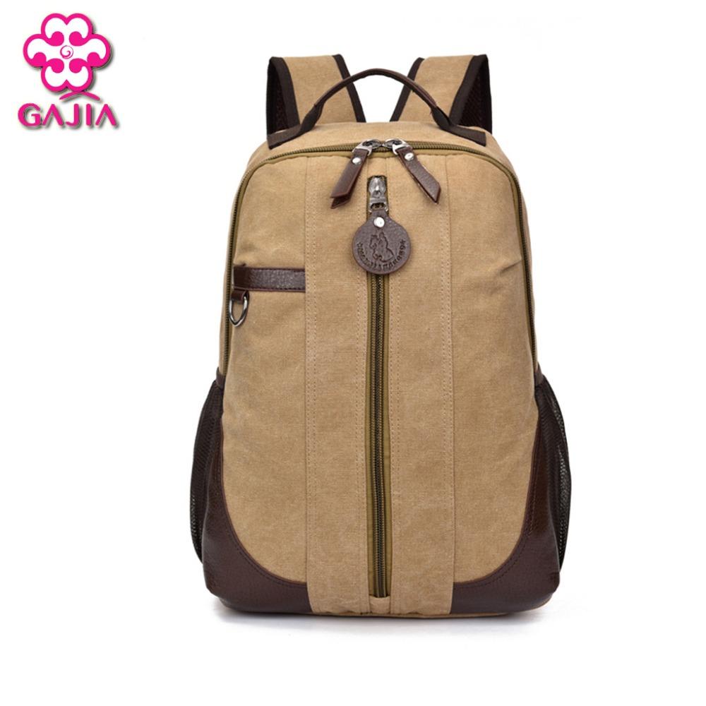 Factory Outlets Fashion Environmental Wear Canvas Water Repellent Big Space Men Bag Backpacks Travel Vintage Shoulders Bag(China (Mainland))