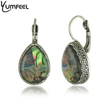 New Vintage Jewelry Metal with Antique Silver Plated Shell Drop Earrings 5 Model Choice(China (Mainland))