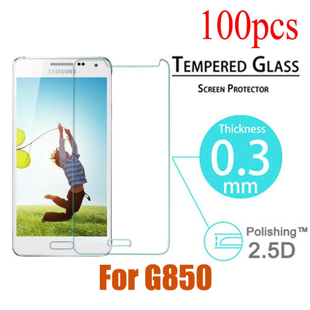 100pcs/lot Explosion Proof Anti Shatter Premium Tempered Glass Screen Protector Film For Samsung Galaxy Alpha G850 G850F G8508S