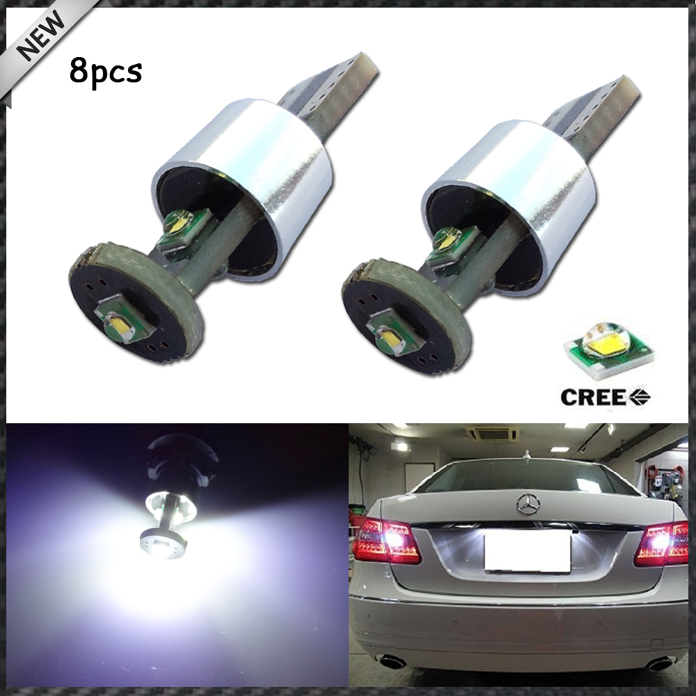 8pcs White Error Free Canbus T10 158 168 2825 W5W High Power 9W 3-SMD CREE LED Bulbs for Backup Parking Lights,Reversing lights(China (Mainland))