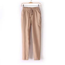 Free shipping 2015 summer new women's casual pants / fashion sexy chiffon elastic waist Rainbow pants / trousers AB98(China (Mainland))