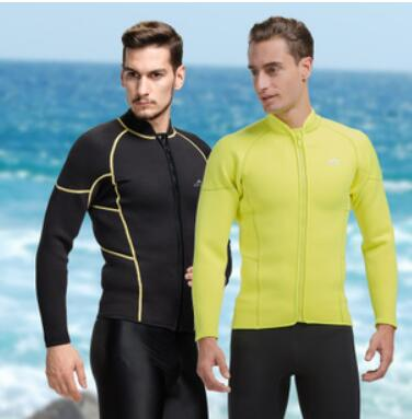 SBART 3MM Neoprene Wetsuit Jacket High Stretch Scuba Diving Jackets Men Swimming Shirt Long Sleeve 2015 New Rashguard