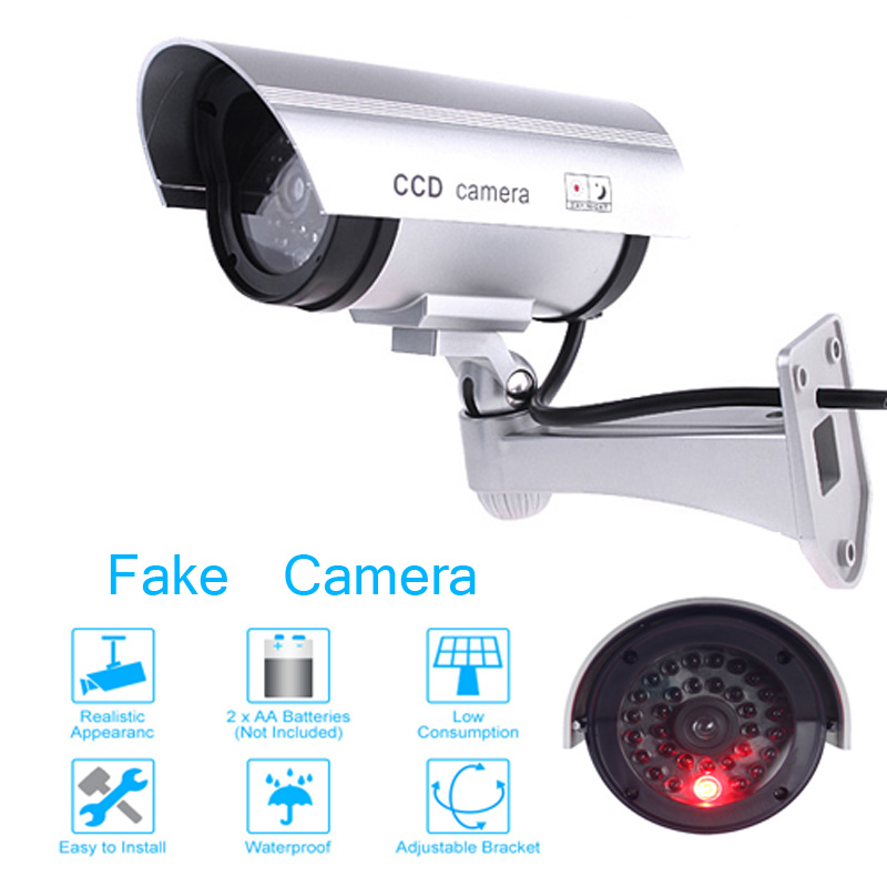 Pratical Hot Sale Waterproof Fake Camera Flashing LED Light Dummy Camera Home Security Bullet CCTV Camera Monitor Free Shipping(China (Mainland))