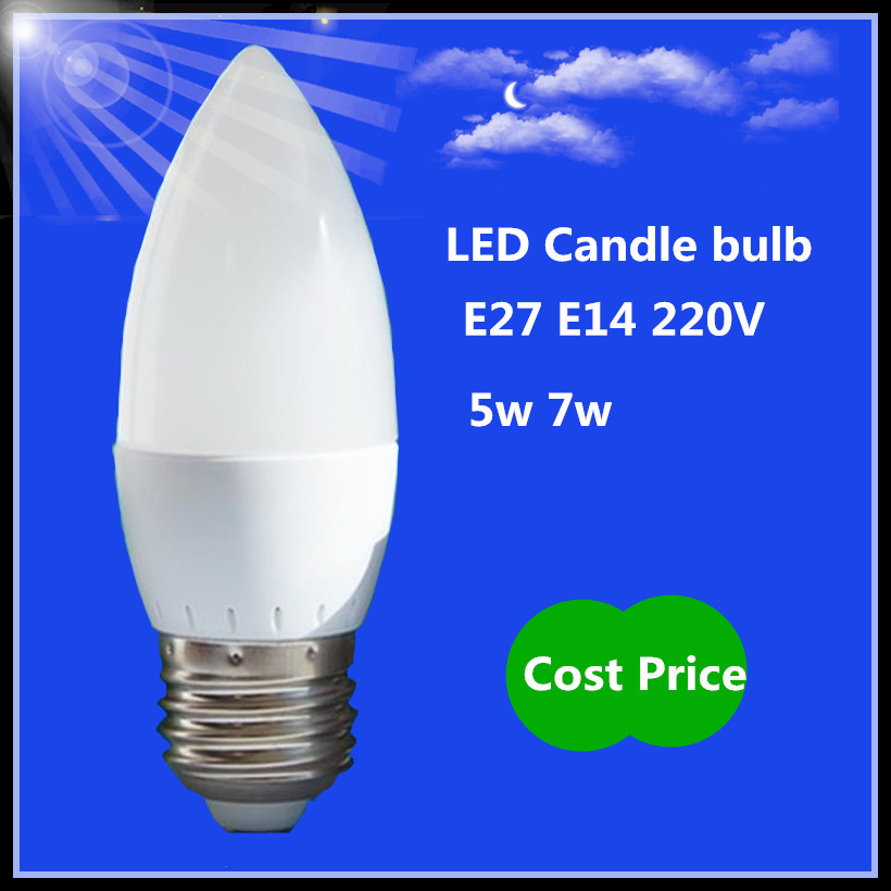 1x E27 LED Bulb 220v 5w 7w warm/cool white LED corn Lights Led lamps Lampada Chandelier crystal Candle Lighting Home Decoration(China (Mainland))