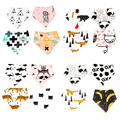4PCS Infant Bib Cartoon Newborn Baby Bibs Double Layers Toddler Triangle Scarf Baberos Bebes Bababor Saliva