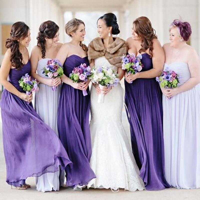 Elegant 2016 light purple bridesmaid dresses summer beach for Purple summer dresses for weddings