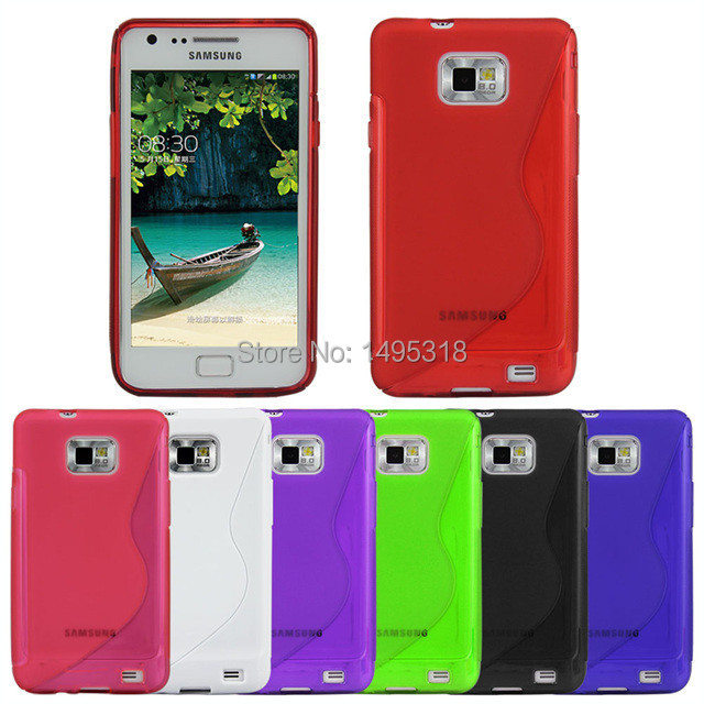 S Line TPU Jelly Case for Samsung Galaxy S2 i9100 Cell Phone Covers(China (Mainland))