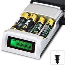 C905W 4 Slots LCD Display Smart Intelligent Battery Charger US Plug for AA / AAA NiCd NiMh Rechargeable Batteries(China (Mainland))