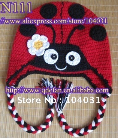 Free Crochet Pattern Baby Girl Boots : wholesale-2013-new-arrival-animal-crochet-ladybug-hat ...