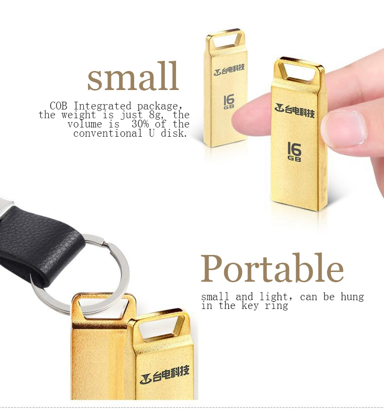 Teclast-NSXU USB Flash Drive USB 2.zero Pen Drive 4G 8G 16G 32G USB Stick Inventory Cle Pendrive Memory Flash Metallic Waterproof Key Ring