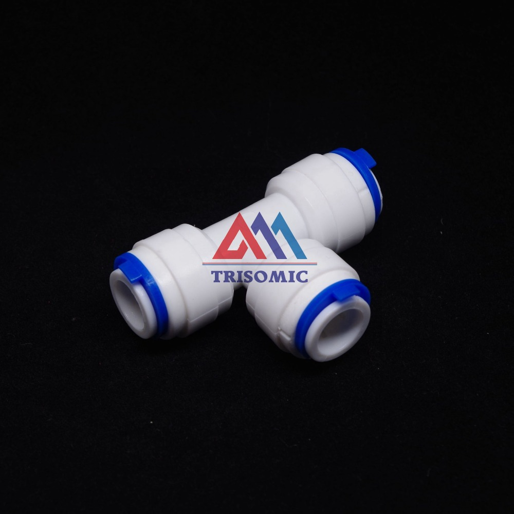 """3/8"""" OD Hose qucik connection Type T RO Water Connector Fittings Connection Aquarium RO Water Filter Reverse Osmosis System"""