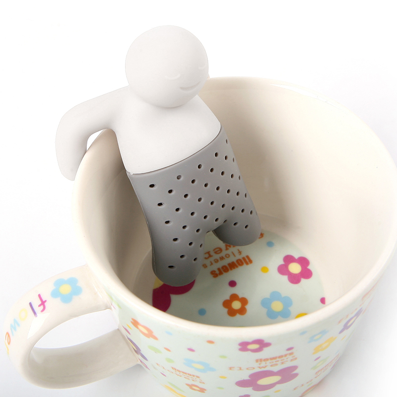 New Silicone Tea Infuser Loose Tea Leaf Strainer Floating Filter Basket Loose Tea Leaf Balls Herbal Spice Coffee Tool#ZH146(China (Mainland))