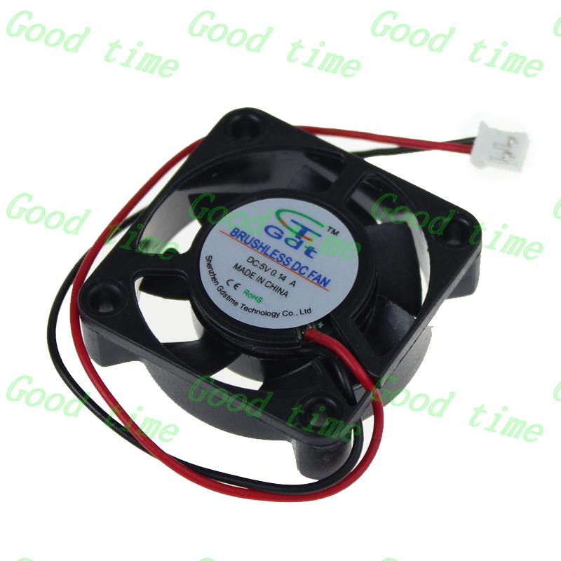 """50 pcs 40MM mini Cooling Computer fan 2 pin Brushless DC 5 V 1.57"""" for pc laptop Small 40x40x10 mm Cooler Sleeve bearing(China (Mainland))"""