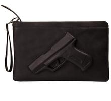 Hot  women messenger bags 3D Print Gun Bag Designer Pistol Handbag Black Fashion Shoulder Bag Day Envelope Clutches With Strap