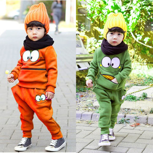 Free shipping Baby Boys Girls Kid SportsWear Tracksuit Outfit Smiling Face Unisex Suit Autumn<br><br>Aliexpress