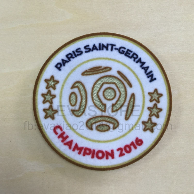 Free shipping 2016 League 1 champion patch 6 star champion soccer patch PSG 2016-2017 soccer Jersey patch bag patch(China (Mainland))
