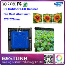 Buy p6 outdoor die cast aluminum cabinet 576*576mm p6 smd led display module 1/8s outdoor led screen video led rgb video wall for $772.50 in AliExpress store