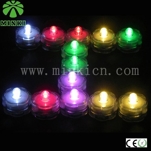 MINKI DC3V  battery operated small    promotiontal led submersible light