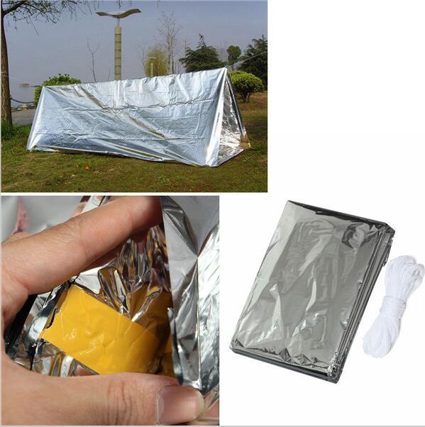 Outdoor Equipment Emergency Tent Tube Men Insulation Shelter for Camping DIY Survival Tent EDC Tool First Aid Survival Blankets(China (Mainland))